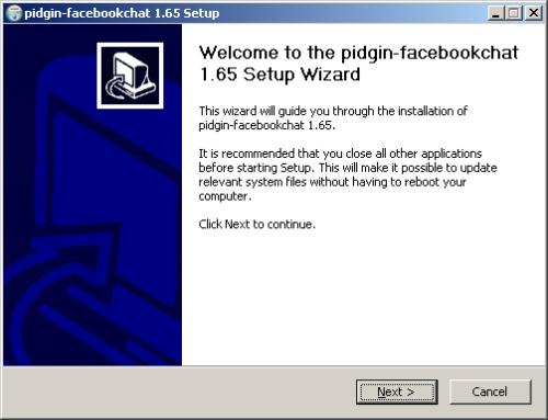 setup facebook chat dengan pidgin