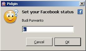 Set Status facebook di pidgin