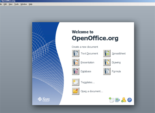 OpenOffice.org first page
