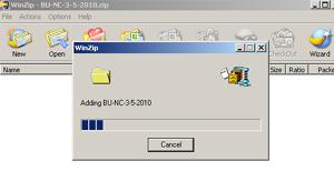 Proses kompres file dg WinZip