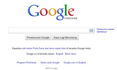 search engine Google.com