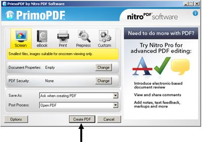 Create file Pdf menggunakan PrimoPDF