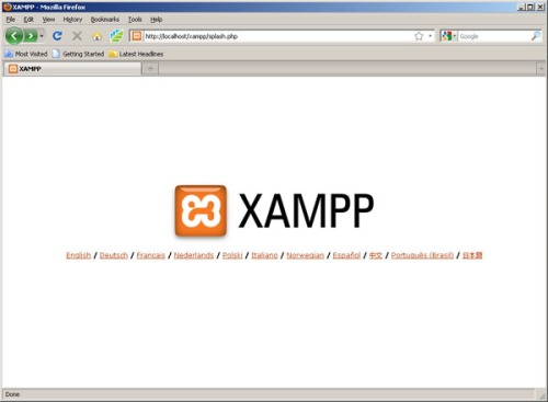 Gambar 1. Layar XAMPP