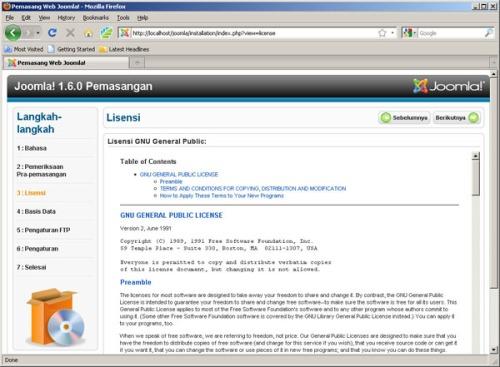 Gambar 4. Lisensi GNU