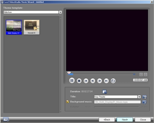 Edit - Preview - Tambahkan suara latar belakang