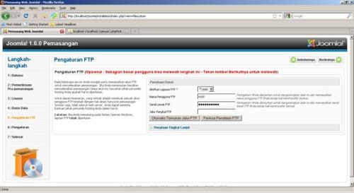 Gambar 6. Pengaturan FTP