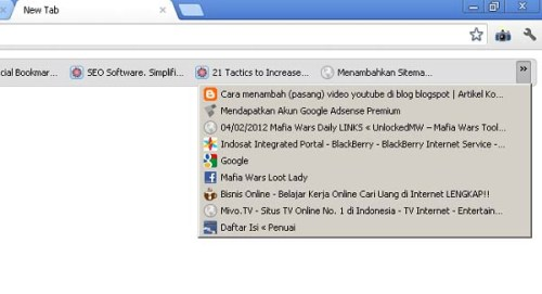 Gambar 2. Cara Buka Bookmark di Google Chrome
